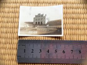 民国青岛体育场老照片1张,十分罕见的老照片,难得!