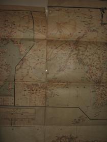 1916年大日本交通全图  朝鲜满洲及山东省图、台湾地图   郁陵岛、独岛(竹岛) 109x78cm
