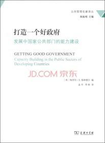 打造一个好政府:发展中国家公共部门的能力建设/公共管理名著译丛