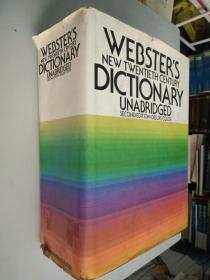 WEBSTER'S NEW TWENTIETH CENTURY DICTIONARY  Unabridged