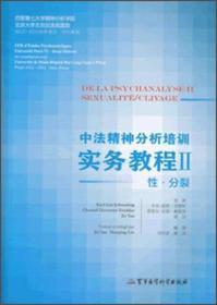 中法精神分析培训实务教程2:性·分裂