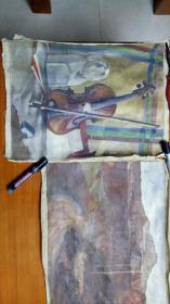 名家油画:竺士慧(3张合售)一张签名.两张没签名
