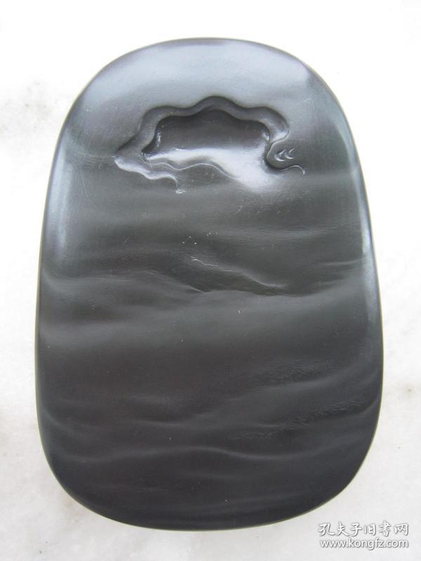 歙砚--星子坑眉纹歙砚《云水禅心》150