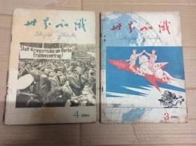 世界知识 1960年第3、4期(2本)