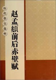 历代墨宝选粹:赵孟頫前后赤壁赋