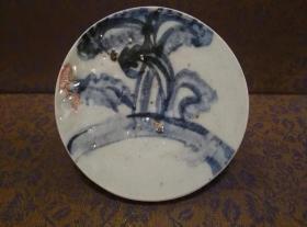 古玩文玩收藏类:明 青花花卉纹老瓷片 QH-0008