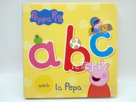 佩奇教你简单字母认知纸板书 ABC amb la Pepa 西班牙语版