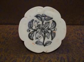 古玩文玩收藏类:明 青花花卉纹老瓷片 QH-0012