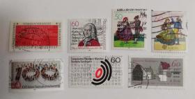 外国邮票联邦德国信销票(7枚没有重复不是一套票)