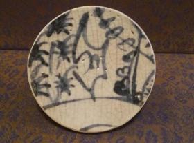 古玩文玩收藏类:明 青花花卉纹老瓷片 QH-0006
