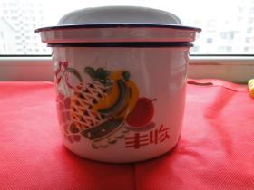 《建设牌》搪瓷餐具(三件套)丰收图案,沈阳搪瓷厂,1992年