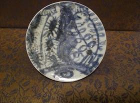 古玩文玩收藏类:明 青花花卉纹老瓷片 QH-0011