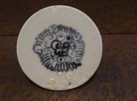 古玩文玩收藏类:明 青花花卉纹老瓷片 QH-0003
