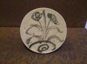 古玩文玩收藏类:明 青花花卉纹老瓷片 QH-0010