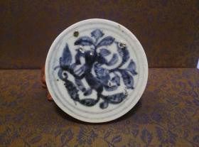 古玩文玩收藏类:明 青花花卉纹老瓷片 QH-0007