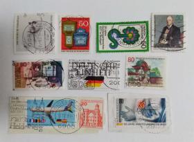 外国邮票联邦德国信销票(10枚不是一套票,个别票是全戳 )
