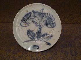 古玩文玩收藏类:明 青花花卉纹老瓷片 QH-0002