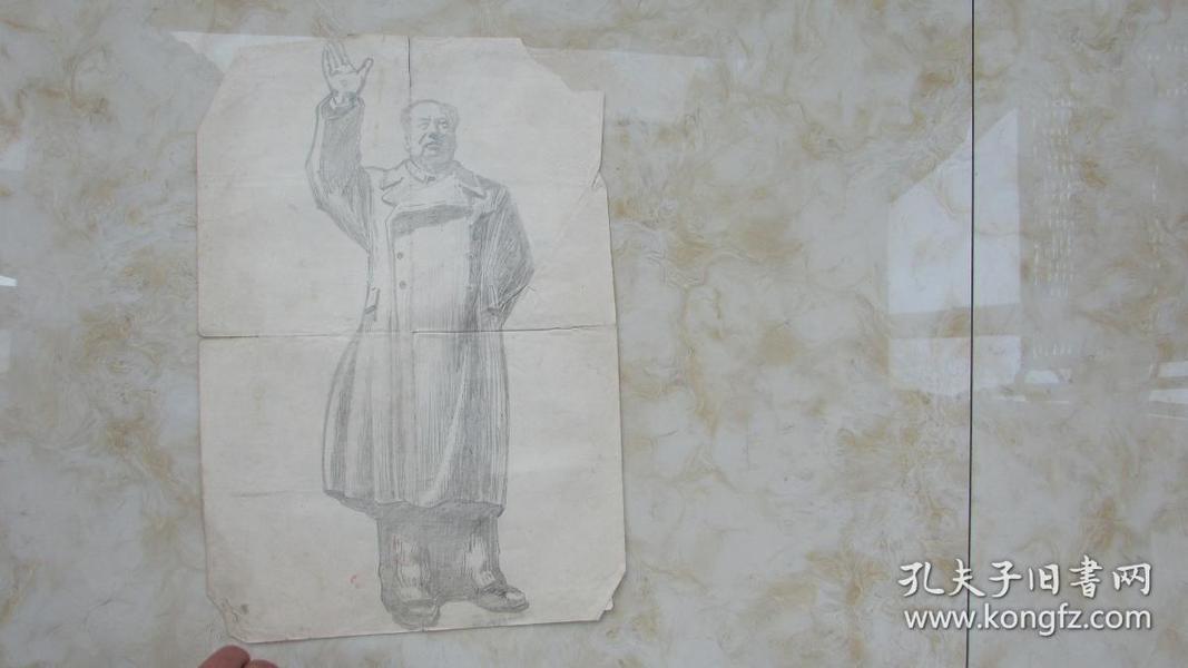 毛泽东画像(保真手绘)