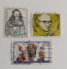 外国邮票联邦德国信销票(3枚没有重复不是一套票1989年发行)