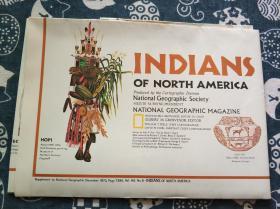 National Geographic國家地理雜志地圖系列之1972年12月 Indians of North America 北美洲印第安人地圖