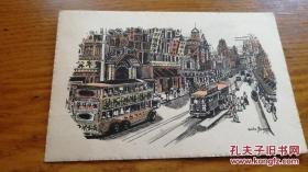 民国明信片 《Nanking Road,Shanghai》JYC