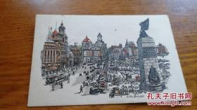 民国明信片《The Bund,Shanghai》JYC