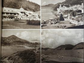 民国香港浅水湾及赤柱以及九龙海滩老照片印刷品一张