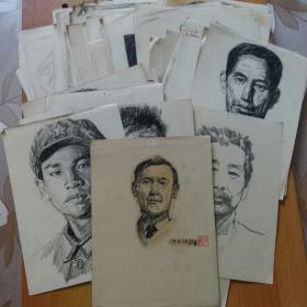 张超手绘原稿原画130余张合售(作于70~90年代) 另赠其它数十张