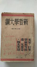 新哲学大纲 补正增定版 民国版 缺版权页 其他完整
