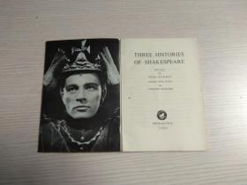 THREE HISTORIES OF SHAKESPEARE(内含英、日文)原版