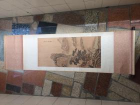 少见1980年左右上海美术馆外销画山水画仿王原祁(乙丑秋月)挂画