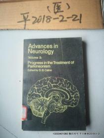 英文原版医学图书:神经病学进展第3卷 ADVANCES IN NEUROLOGY VOLUME 3