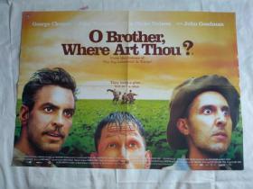 外国电影海报(O Brother,where Art Thou?12)4开双面(英文版)