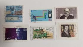 外国邮票联邦德国信销票(6枚没有重复不是一套票1988)
