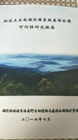 云南诸葛营国家级森林公园可行性研究报告