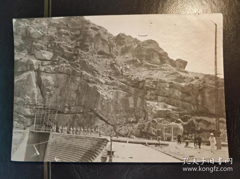 民國香港九龍紅磡開山船塢老照片一張