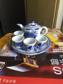 80年代景德镇老厂货瓷器手绘青花茶具功夫茶具,全品,库存还有八套