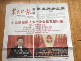 报纸《农民日报》(人大照片2018年3月21日8版)