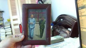 【罕见 保老保真】毛林合影彩色--镜框.(20cm*13cm;88品+假一赔十)#/