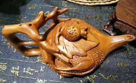 木器草花梨木茶壶
