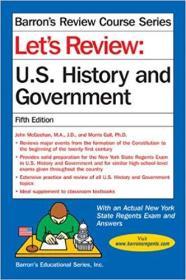 英文原版书 Lets Review U.S. History and Government 美国历史和政府回顾复习 5th Edition by John McGeehan (Author), Morris Gall (Author)