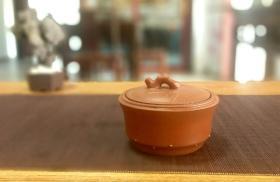 80年代 一厂紫砂罐 茶叶小罐 竹节罐