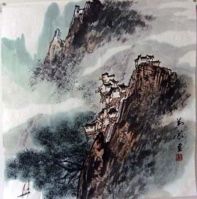 保真*刘义*四尺斗方山水画精品*N138