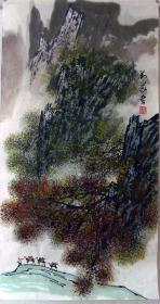保真*刘义*三尺山水画精品*N119
