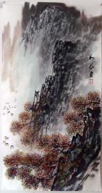 保真*刘义*三尺山水画精品*N120