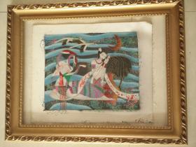 低价急售,油画,纯手绘,30*28厘米高。