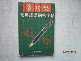多功能常用成语钢笔字帖