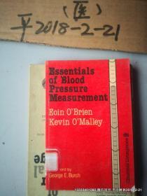 英文原版医学图书;血压测量的基础 ESSENTIALS OF BLOOD PRESSURE MEASUREMENT