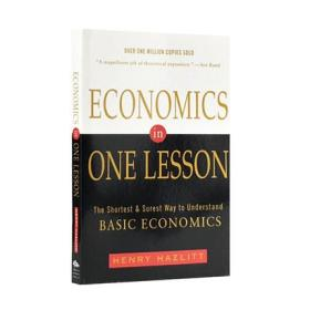 一课经济学 英文原版 经济学入门读物 Economics in One Lesson 经济学的一堂课 罗振宇逻辑思维推荐