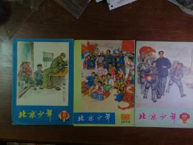 北京少年·1974年第8、9、10期  3本合售